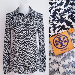 TORY BURCH Women's EDIE Silk Jersey Blouse S